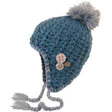 chillouts Debbie Kid Gorro para niños Borla de invierno niñas en azul NUEVO