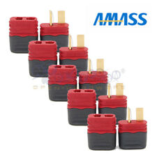 5 Pairs Amass T Plug Deans Male & Female Connectors with Insulated caps