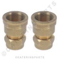 Droits adaptateur Lot de 4 compression 15 mm x 1//2 BSP m/âle
