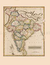 MAP LUCAS 1814 GENERAL ATLAS INDIA HINDUSTAN LARGE REPLICA POSTER PRINT PAM1007