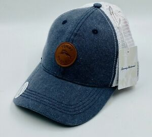 Tommy Bahama Men's Tip Your Cap Hat Blue Gray White Strapback Mesh Trucker New