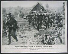Panzer III 1942 East front MG42 German press photo WW2 Russia Infantry Helmet 2g