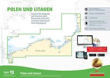 Seekarten Satz 13 Revierführer Seekarte Polen Litauen Stettin bis Klaipeda Karte