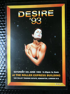 desire '93 -  the roller express - A4 rave flyer 1993