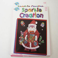 2 Childrens Christmas Sequin Sparkle Creation Art and Craft Xmas Stocking Gift