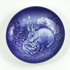 Bing & Grondahl 1999 Mother's Day Collectors Plate, Mors Dag, Rabbit with Young