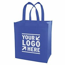 100 CUSTOM SCREEN PRINTED SHOPPING GROCERY TOTE BAGS -  $1.59/ea
