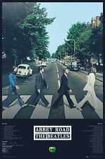 BEATLES Poster  - Abbey Road with tracks - Beatles album cover Music poster