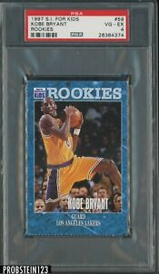 1997 S.I. For Kids #59 Kobe Bryant Los Angeles Lakers HOF PSA 4 VG-EX