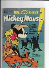 Disney's,Dell Comic,No.313, MICKEY MOUSE THE MYSTERY OF THE DOUBLE CROSS RANCH