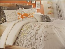 NEW KAS PENNY WHITE CORAL EMBROIDERED TWIN DUVET COVER