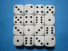 Dice : 12mm size White (16)