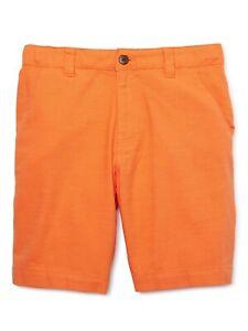 Wonder Nation Boys Flat Front Shorts Size 4 Orange School Uniform Approved NEW