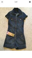 ONE GREEN ELEPHANT Ladies Denim Playsuit Jumpsuit All In One Size M Approx uk 10