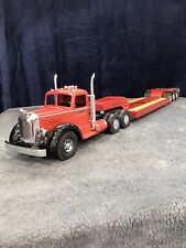 Smith Miller Toy Truck With Lowboy Trailer
