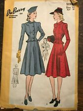 1940's DuBarry Sewing Pattern 5008B Misses 2-piece Dress size 12