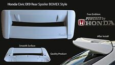 Honda Civic EK9 Rear Bonnet Spoiler Wing BOMEX Style Hatchback Free Emblem EK3