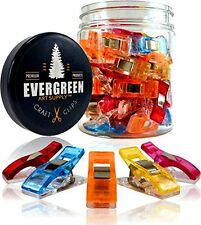 Evergreen Art Supply Sewing and Quilting Craft Clips - Original (50 Pack)