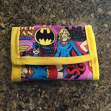 Super Girl Wallet, Wonder Woman, Bat Girl Pink Yellow