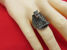 G&S Vintage Biker Ring Chunky Dragon Skeleton Motorcycle Size 11.5 Unisex 63k