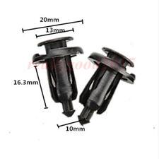 100pcs 10mm for Honda Clips Plastic Push Type Rivet Retainer Fastener Bumper Pin