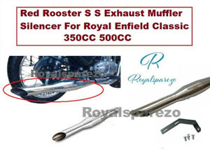 Red Rooster s Exhaust Muffler Silencer For Royal Enfield Classic 350CC & 500CC