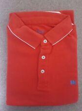 BNIP Men's Savile Row Piqué Short Sleeve Polo Shirt L Red Perfect Man Present!