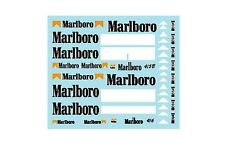 F1 DECALS MUSEUM COLLECTION D231 1/43 FOR MCLAREN MP4/5B & MP4/6 TOBACCO