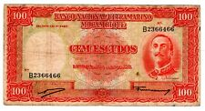 PORTUGAL MOZAMBIQUE ULTRAMARINO BILLET 100 ESCUDOS 1958 P107 ORNELAS BON ETAT