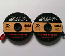 Fly Tying Scotland Fluorocarbon Fly Line Tippet Leader Material 50m 6,8lb