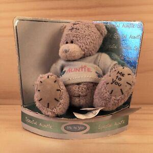 "SPECIAL AUNTIE ""Grey"" Beautiful Sentiment Teddy Bear Soft Toy Stuffed Friend"