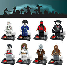 8x Set Monsters & Zombies Minifigures Custom Haunted Fighters fit lego