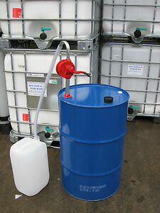 205 Litre 45 Gallon Steel Oil Drum and Dispensing Kit Fuel Tank Rotary Hand Pump