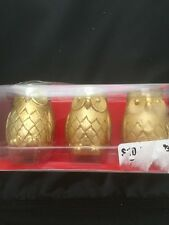 Golden Owl Candles Mini Set of 3 Paperchase Brand New in Package Weddings Decor
