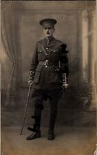 WW1 Officer AVC Army Veterinary Corps Le Treport France