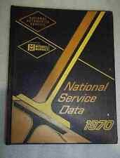 MITCHELL NATIONAL SERVICE DATA MECHANICAL MANUAL 1970
