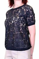 New Womens Ladies EX FAMOUS MAKE Short Sleeve Lace Tops Shirt Blouse Size 6-18.