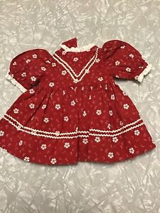 Vintage Baby Doll Dress Fashion Red & White  (D)