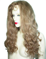 Human Hair Full Lace Wig Remi Remy Indian Long Brown Blonde Hand Tied Wavy
