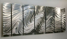 Modern Abstract Silver Corporate Metal Wall Art Sculpture Original Jon Allen