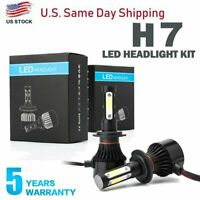 Pair 4-sides H7 CREE LED Headlight bulb 2400W 6000K 360000LM Replacement Bulb