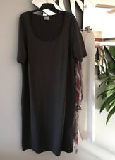 "TS TAKING SHAPE Charcoal Grey Short Sleeve Stretch ""Luna"" Tunic Maxi Dress S"
