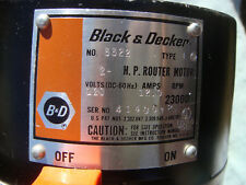 Black & Decker 3322 TYPE 1 2 HP ROUTER 23000 RPM