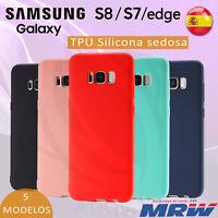 Funda de silicona gel para el Samsung Galaxy S7 y S8