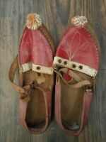 Antique Turkish Leather Childrens Shoes