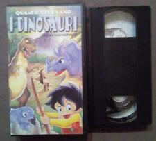 VHS FILM Ita Animazione QUANDO VIVEVANO I DINOSAURI avofilm 2000 no dvd(VH60)
