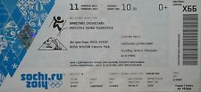 TICKET 11/2/2014 Olympic Games Sotschi Sochi Freestyle Skiing Slopestyle X66