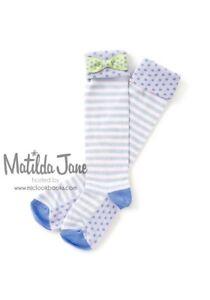 NEW MATILDA JANE Adventure Begins Tic-Tac-Bow Socks size M Medium 9-13