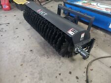 New 72 Sweeper Broom Bucket Skid Steer Loader Sweeper Flat Rate Shipping 300