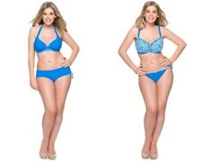 Curvy Kate Coral Reef Halter Top, Padded Bikini Top, Bikini Short or Tie Brief